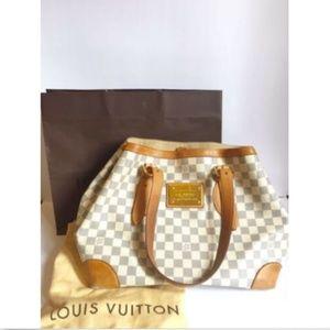 Louis Vuitton Hampstead Damier Azur Shoulder Tote